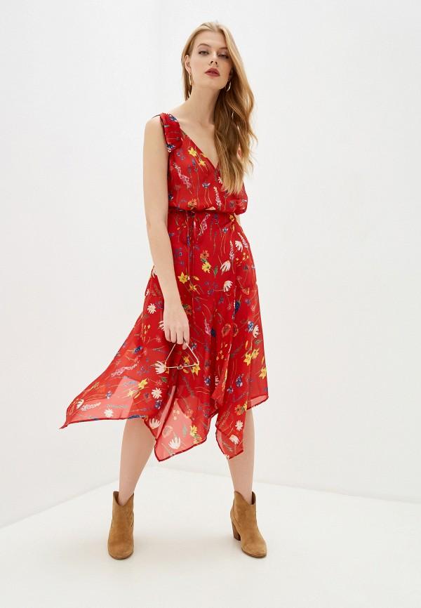 женское платье the kooples, красное