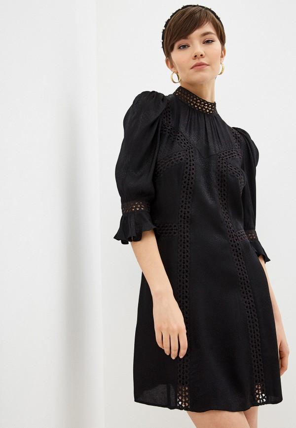 женское повседневные платье the kooples, черное