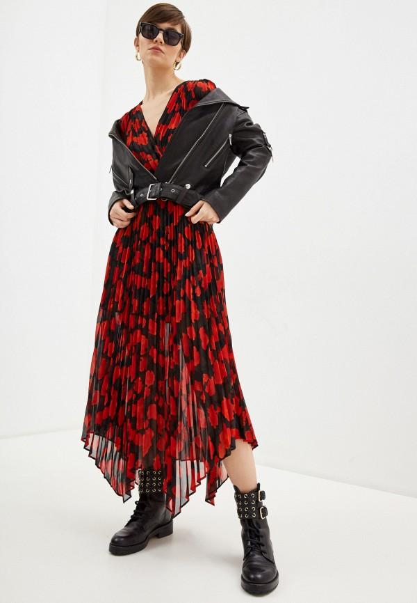 женское повседневные платье the kooples, красное