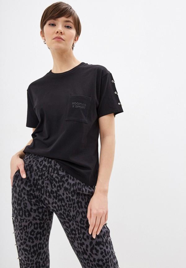 женская футболка the kooples, черная