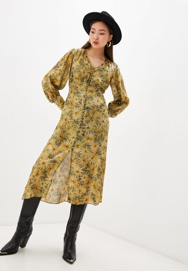 женское вечерние платье the kooples, золотое
