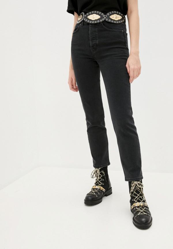 женские прямые джинсы the kooples, черные