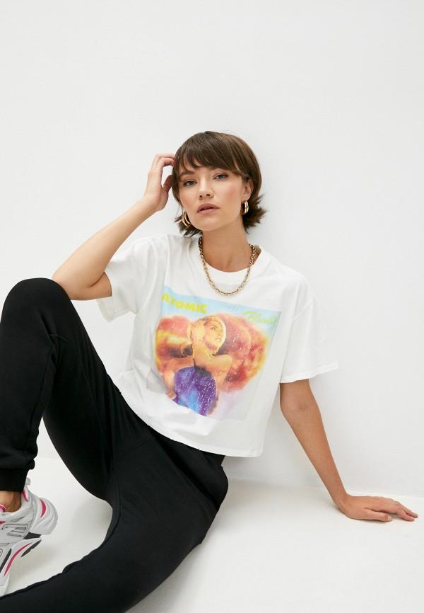 женская футболка the kooples, белая