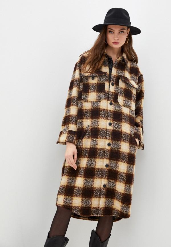 женское пальто the kooples, коричневое