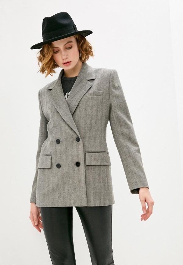 женский пиджак the kooples, серый