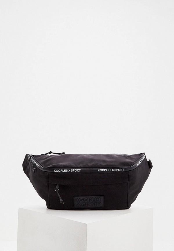 мужская поясные сумка the kooples sport, черная