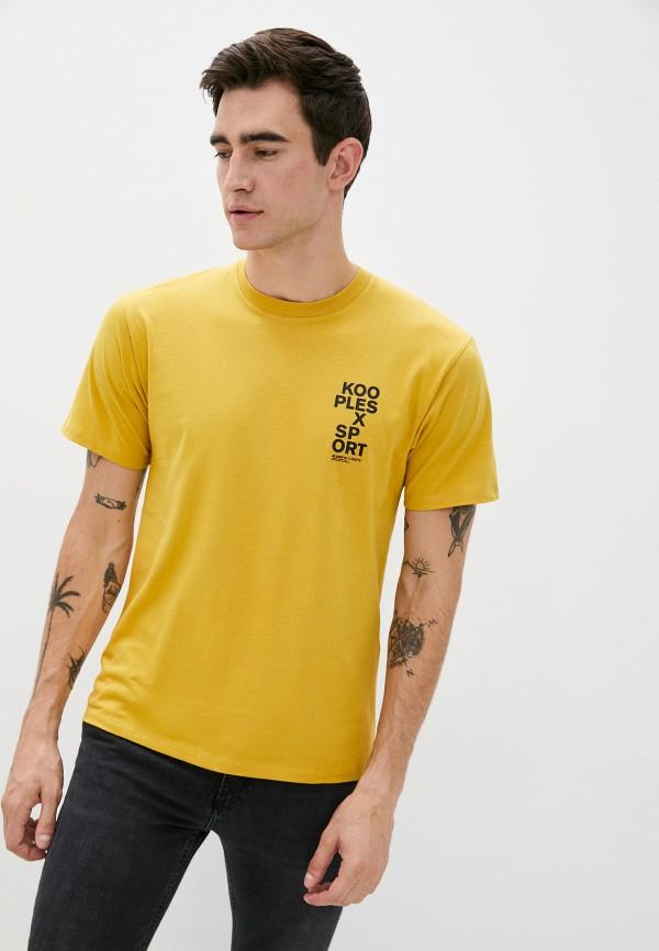 мужская футболка the kooples sport, желтая