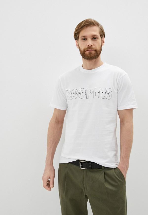 мужская футболка the kooples sport, белая