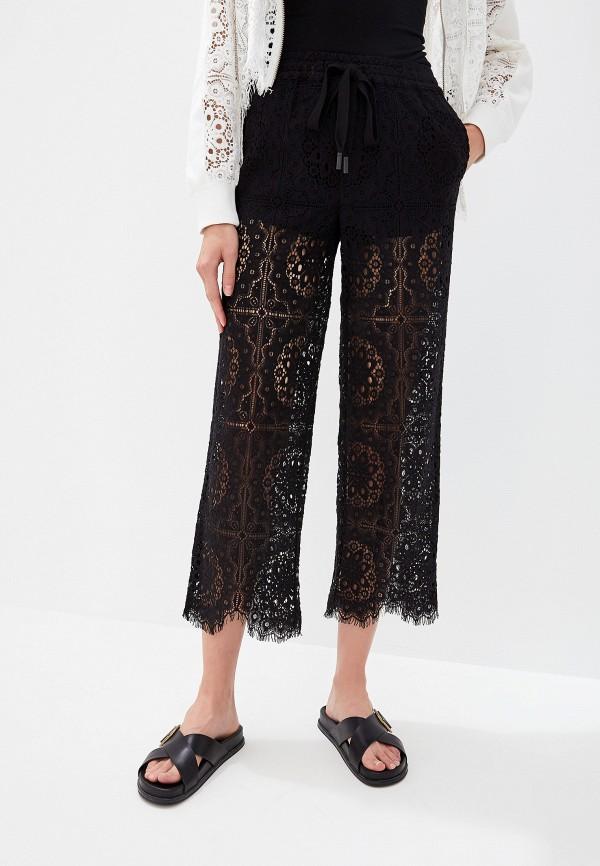 женские повседневные брюки the kooples sport, черные