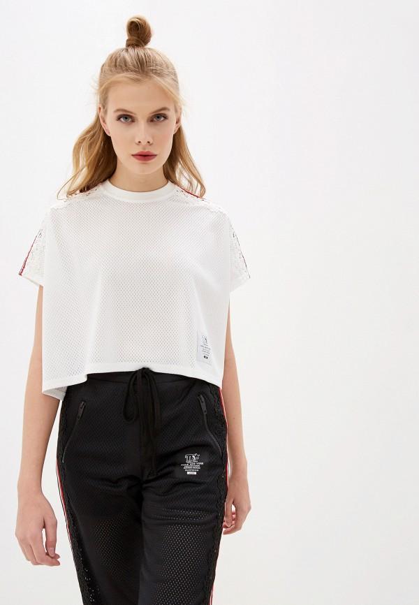 женская футболка the kooples sport, белая