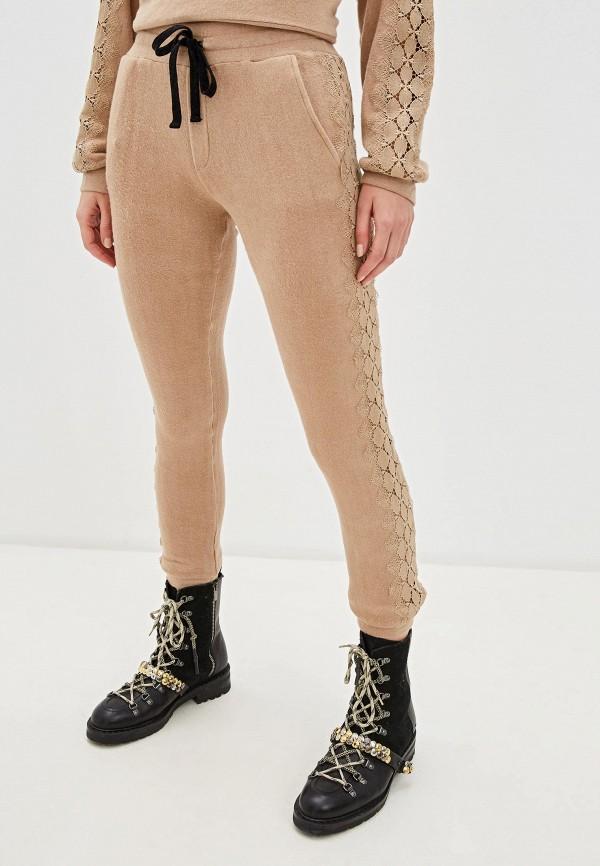 женские спортивные брюки the kooples sport, бежевые