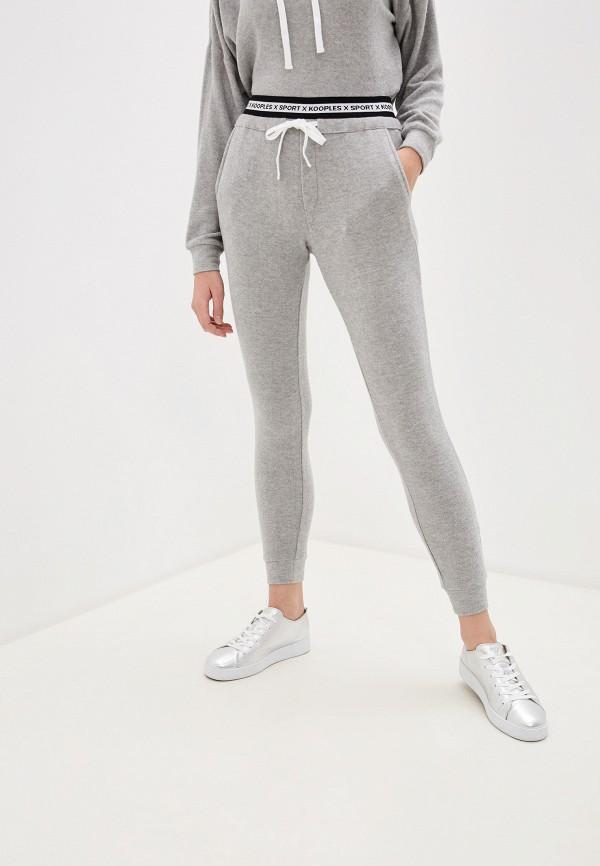 женские спортивные брюки the kooples sport, серые