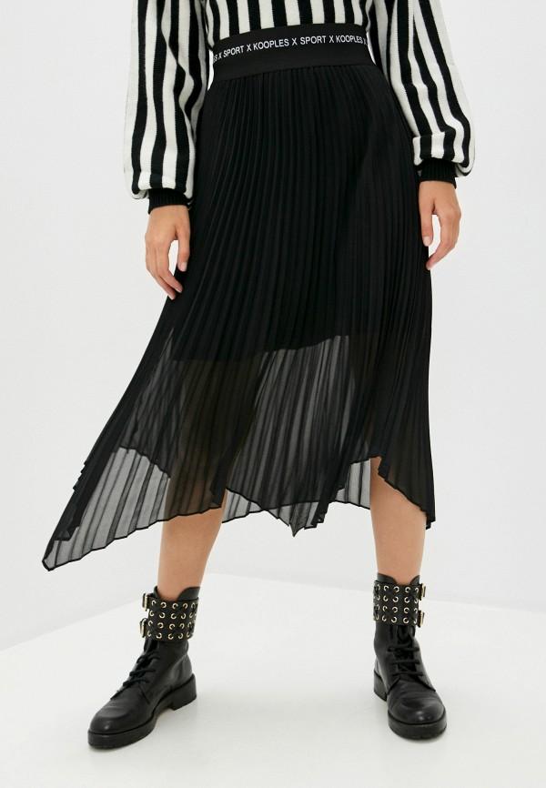 женская юбка the kooples sport, черная