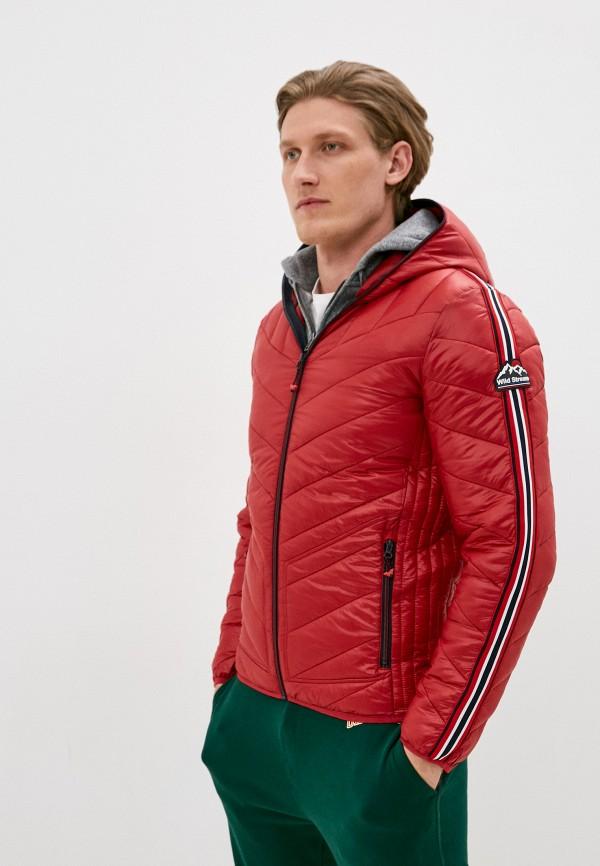 мужская куртка the wild stream, красная