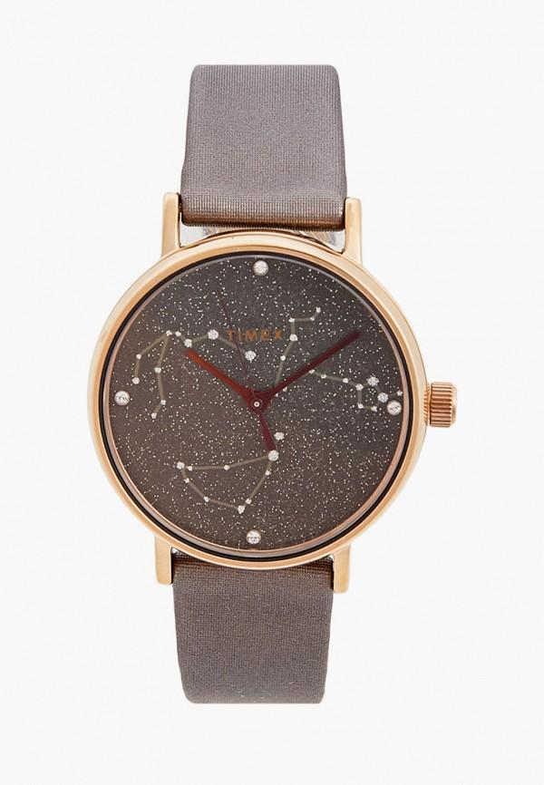 женские часы timex, коричневые