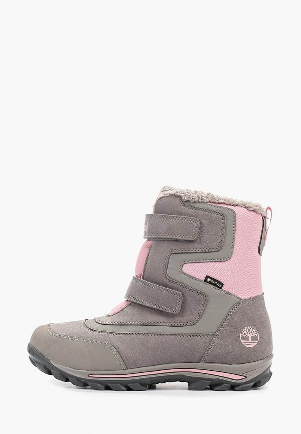 ботинки timberland для девочки, серые
