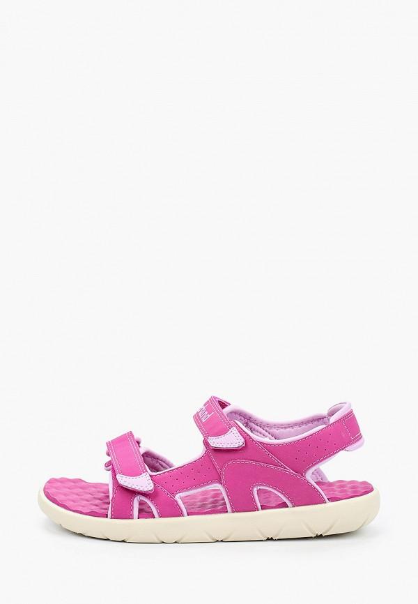 сандалии timberland для девочки, розовые