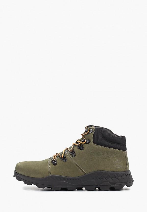 мужские высокие ботинки timberland, зеленые