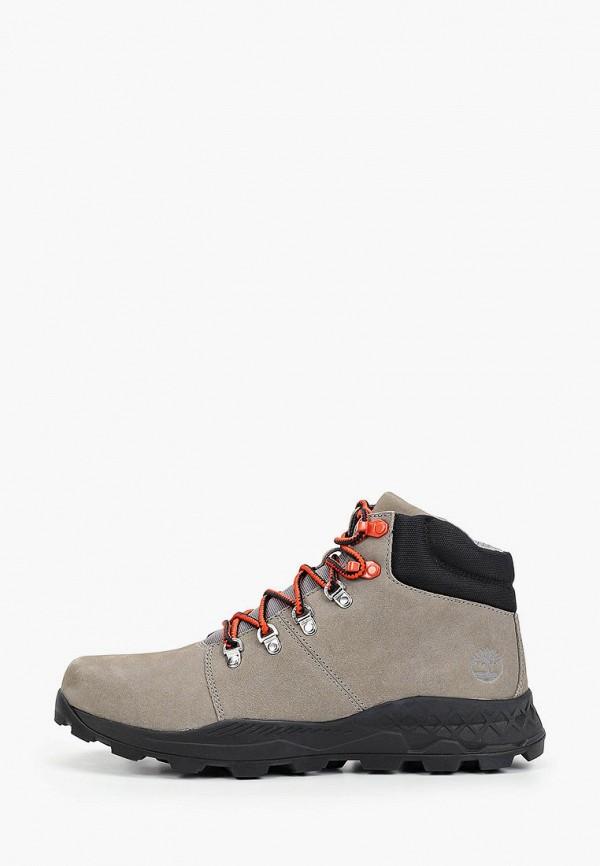 мужские высокие ботинки timberland, серые