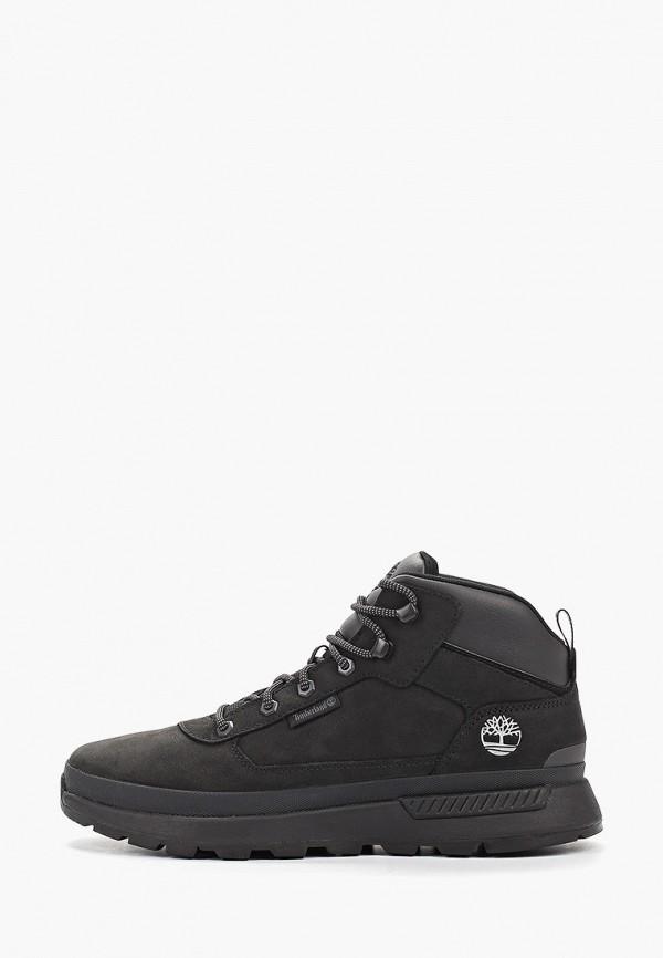 мужские высокие ботинки timberland, черные