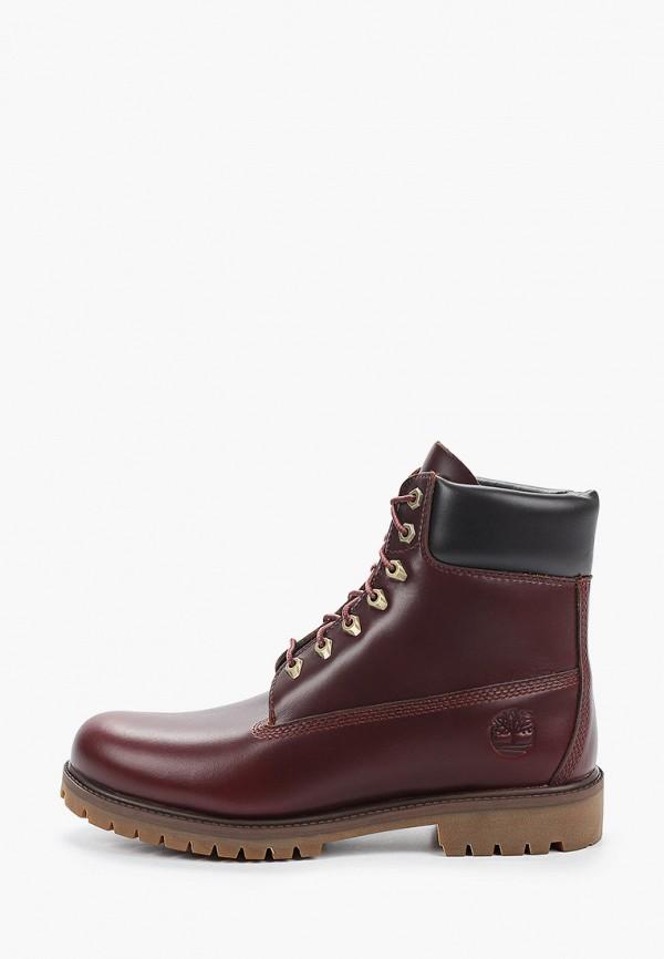 мужские ботинки timberland, бордовые
