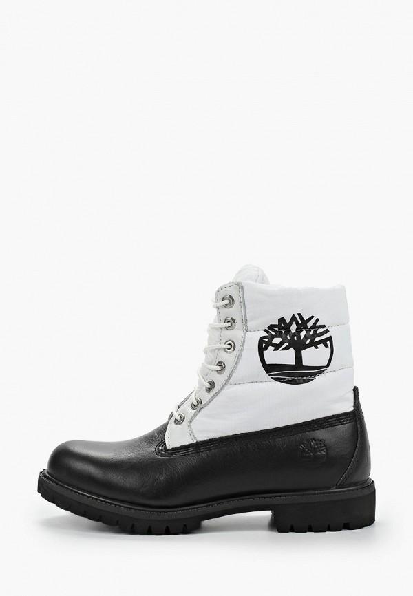 мужские высокие ботинки timberland, белые