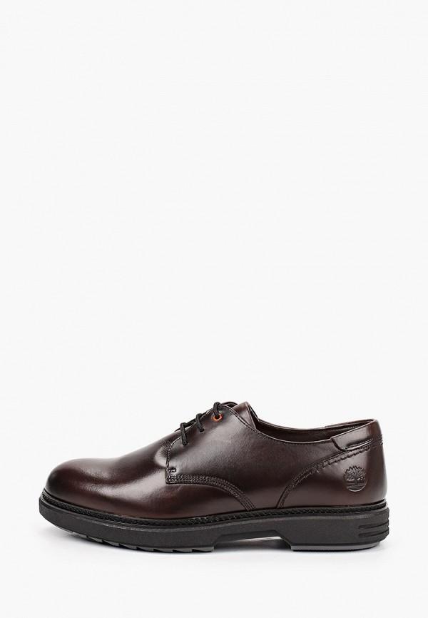 мужские туфли-дерби timberland, коричневые