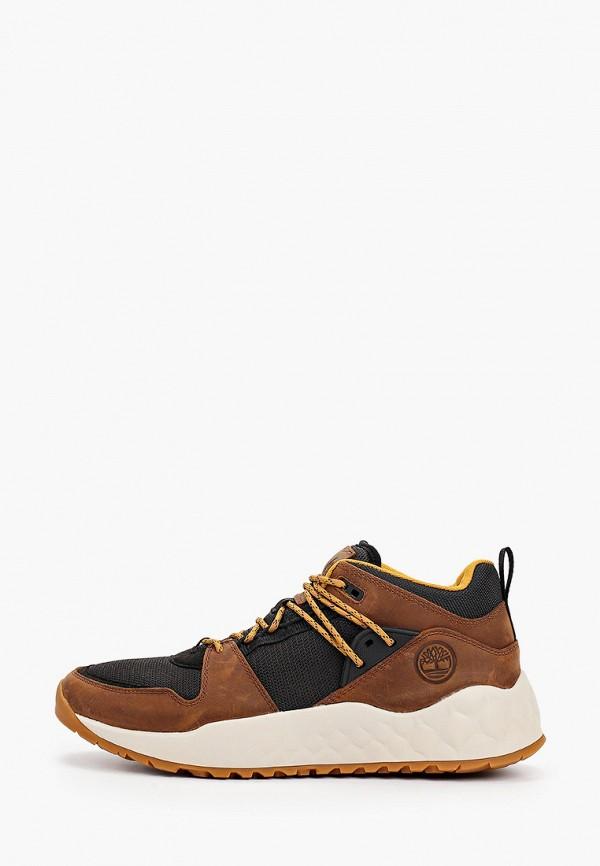 мужские высокие кроссовки timberland, коричневые