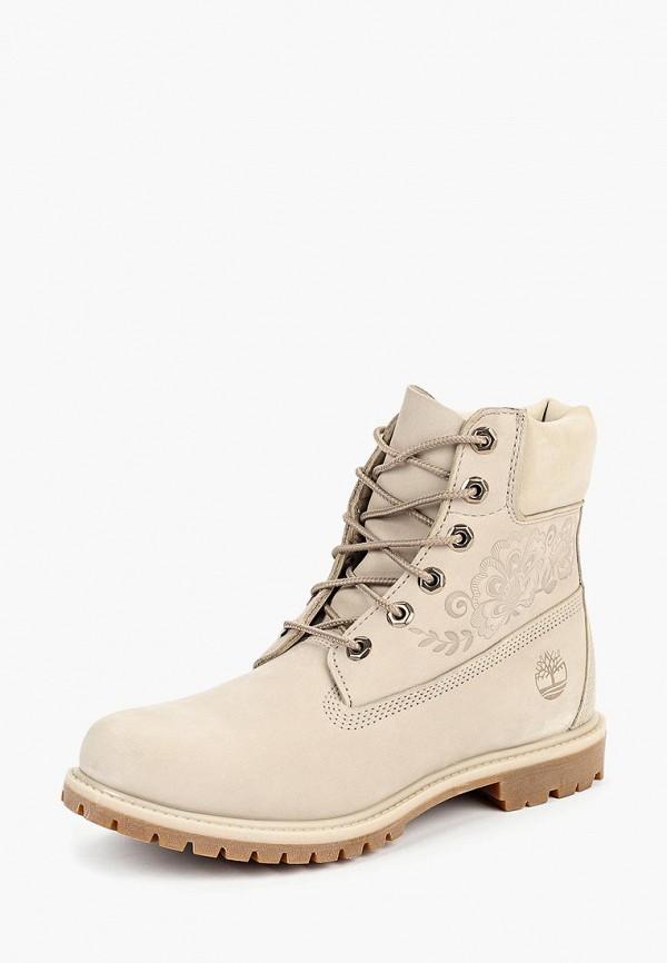 женские ботинки timberland, бежевые