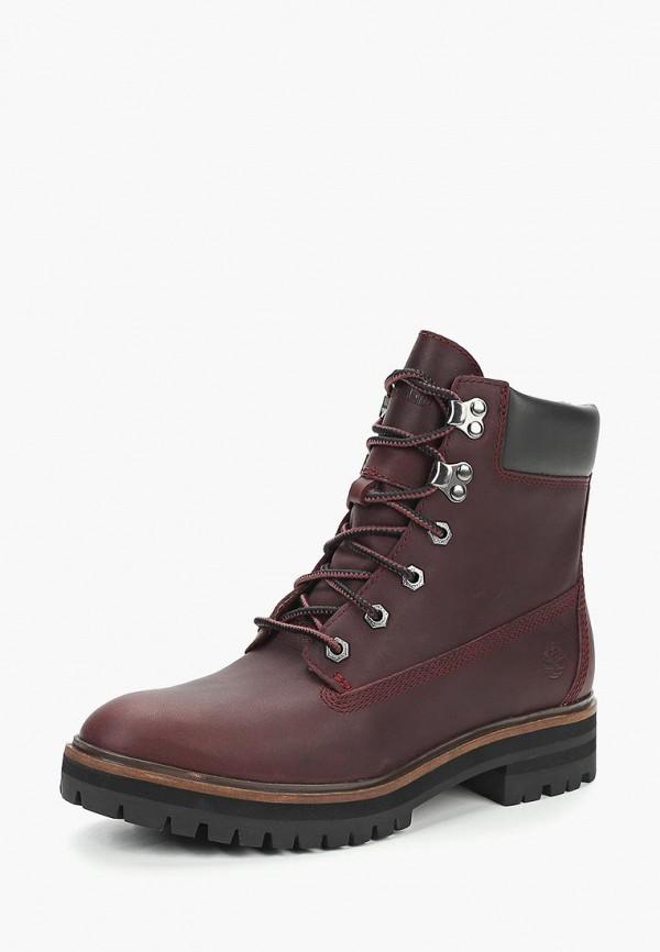 женские ботинки timberland, бордовые