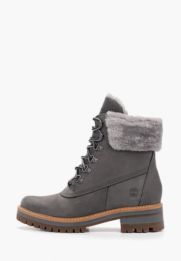 женские ботинки timberland, серые