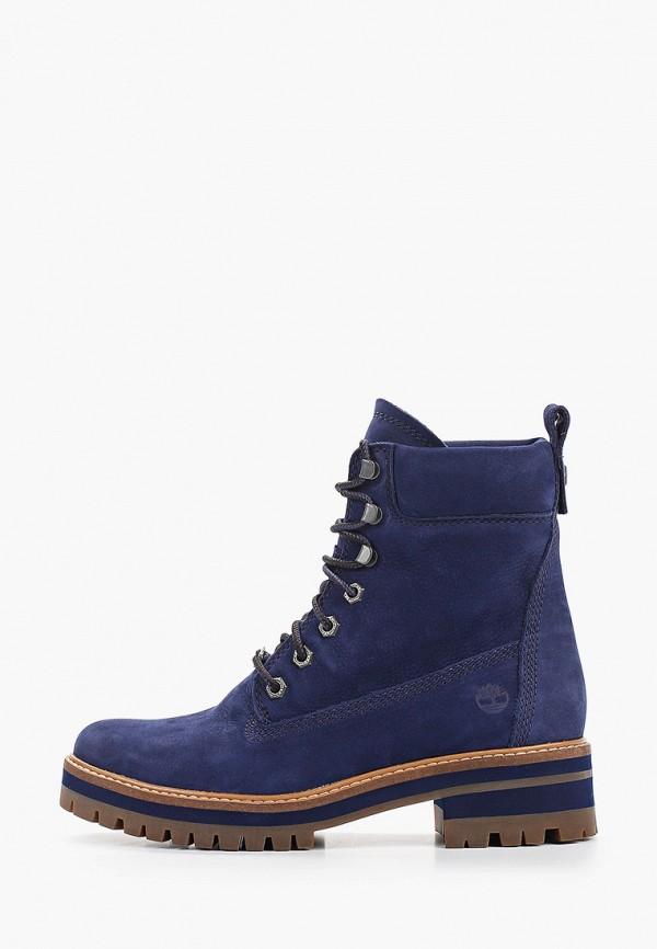 женские ботинки timberland, синие