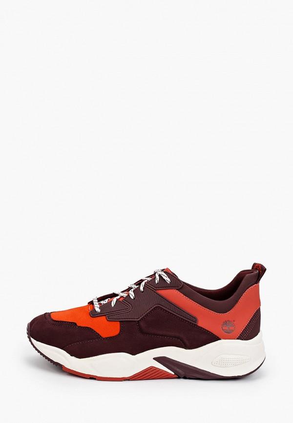 женские кроссовки timberland, бордовые