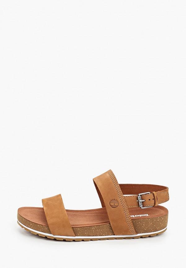 женские сандалии timberland, коричневые