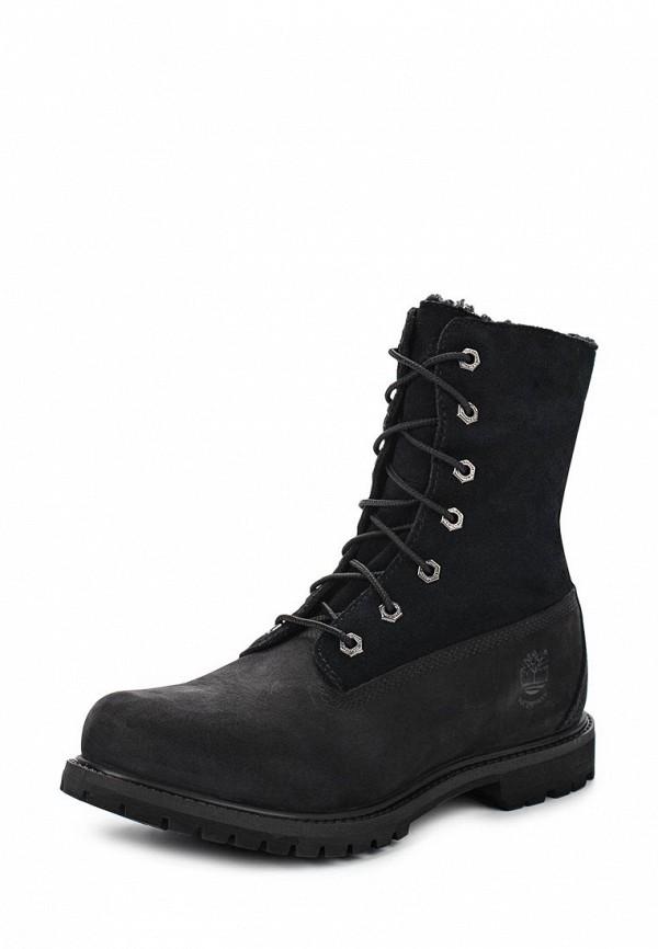 Фото 7 - женские ботинки и полуботинки Timberland черного цвета
