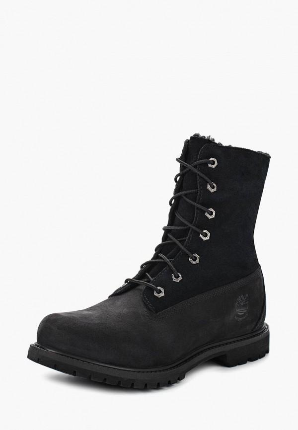 Фото 13 - женские ботинки и полуботинки Timberland черного цвета