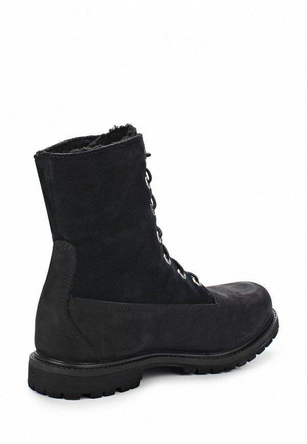 Фото 2 - женские ботинки и полуботинки Timberland черного цвета