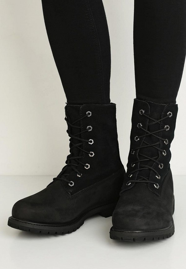 Фото 6 - женские ботинки и полуботинки Timberland черного цвета