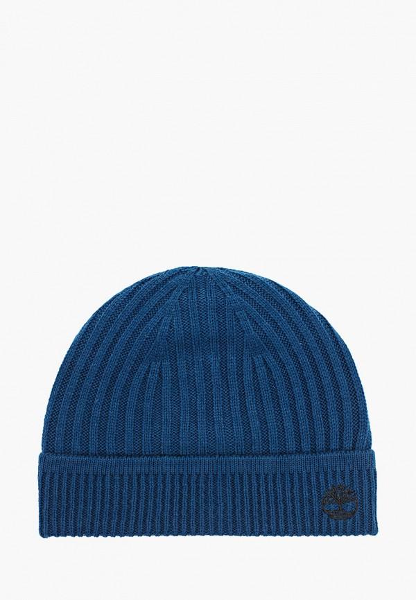женская шапка timberland, синяя