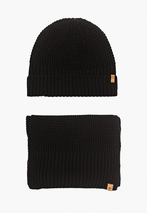 женский шарф timberland, черный