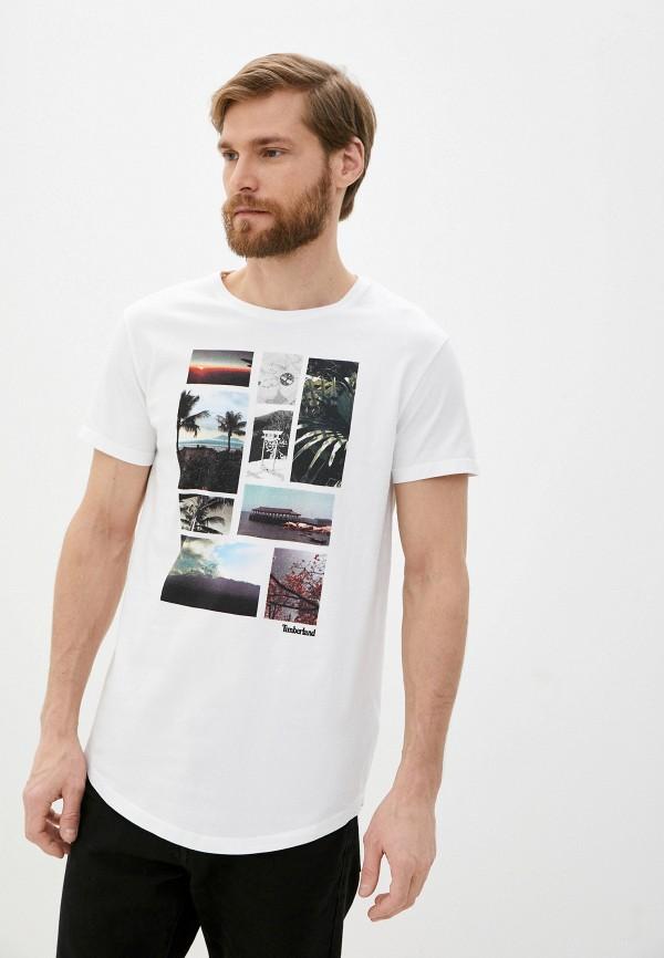 мужская футболка с коротким рукавом timberland, белая