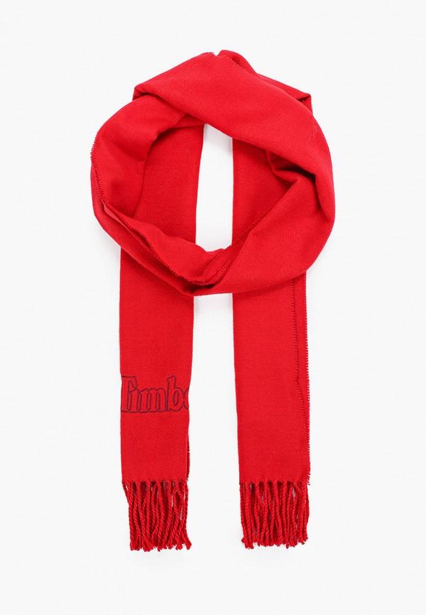 женский шарф timberland, красный