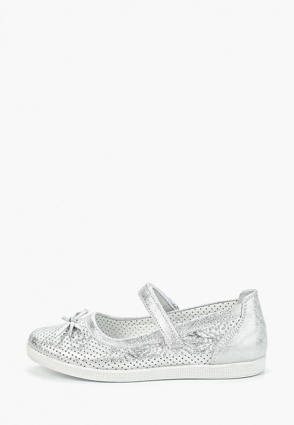 туфли tiflani для девочки, серебряные
