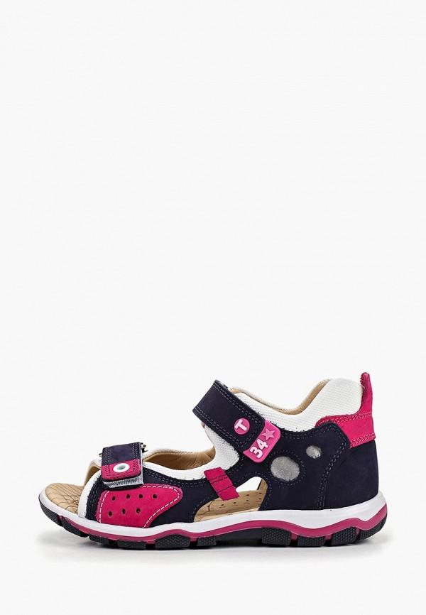 сандалии tiflani для девочки, синие