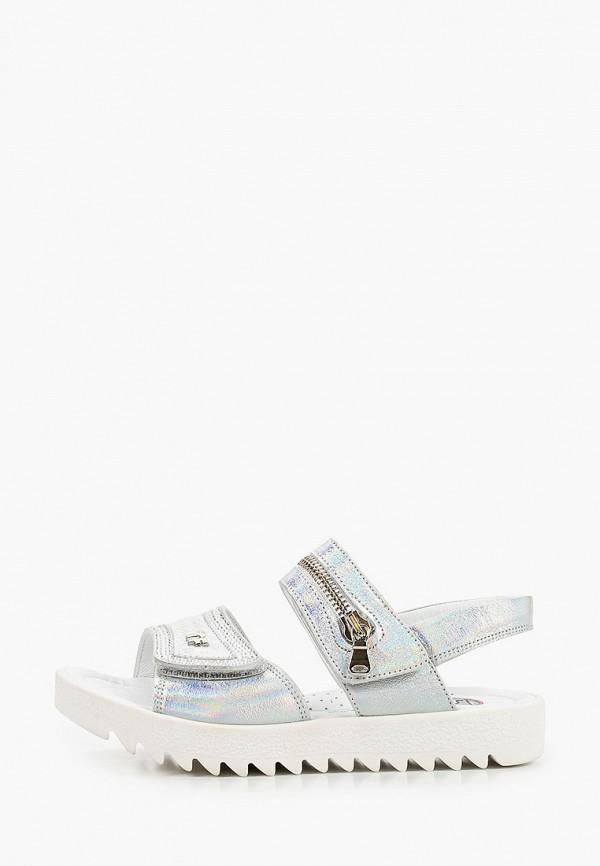 сандалии tiflani для девочки, серебряные