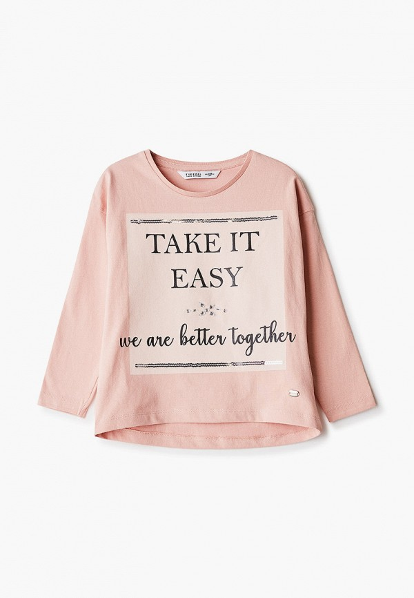 лонгслив tiffosi для девочки, розовый