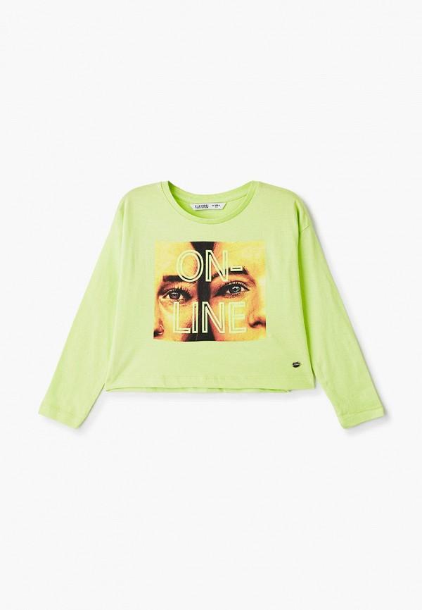лонгслив tiffosi для девочки, зеленый
