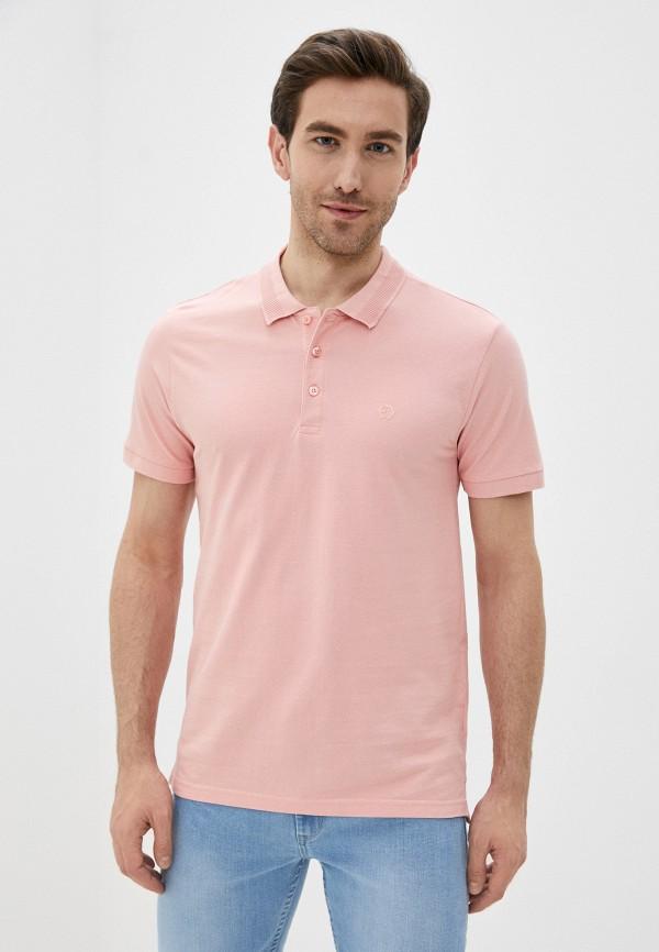 мужское поло tiffosi, розовое