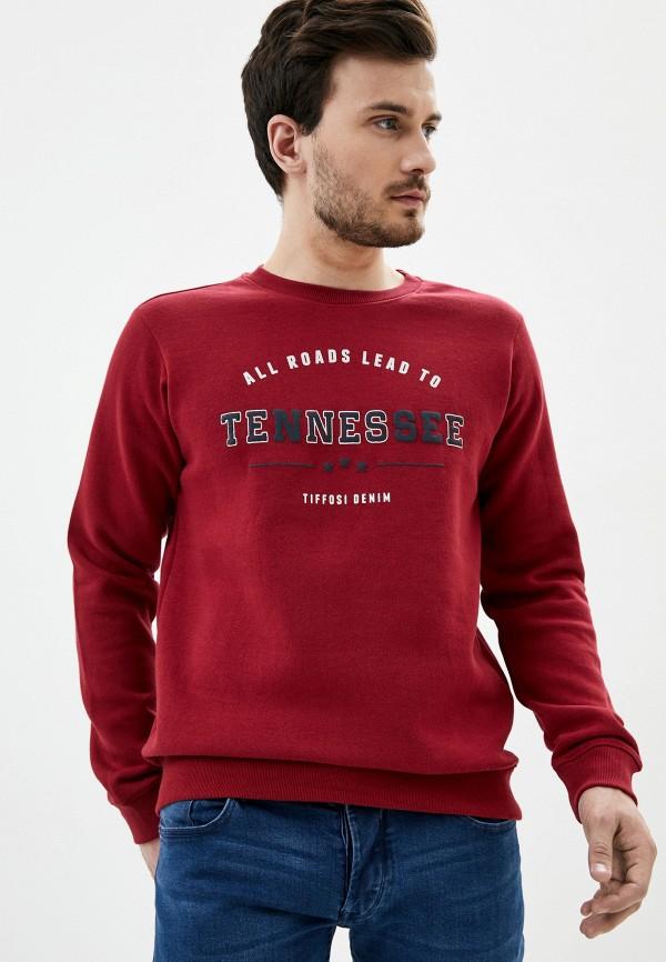 мужской свитшот tiffosi, красный