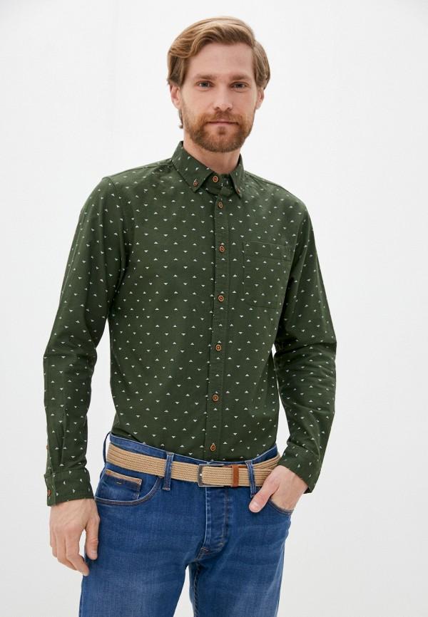 мужская рубашка с длинным рукавом tiffosi, зеленая